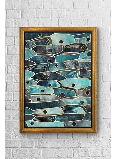 Lyn Home & Decor Çoklu Balık Göz Çerçeveli Poster Tablo 23.5X33,5 Sarı